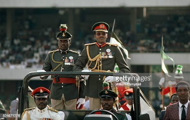 General Muhammadu Buhari dictator of Nigeria following a successful coup d'etat against Shehu Shagari