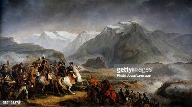 General Napoleon Bonaparte during the Battle of Rivoli. Painting by Antoine Charles Horace Vernet , 19th century. Castle of Grosbois, Boissy Saint...