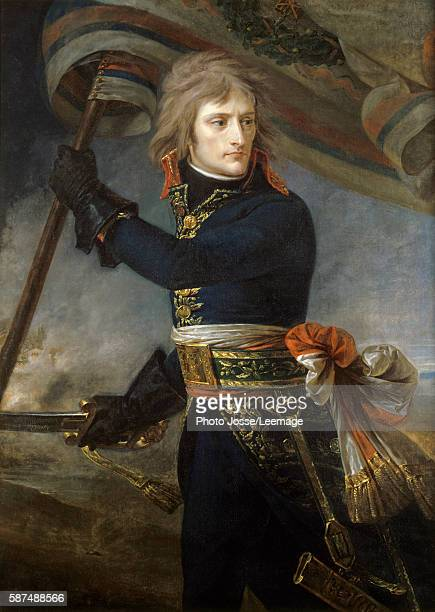 General Napoleon Bonaparte on the Bridge at Arcole 17th November 1796 Painting by Antoine Jean Gros oil on canvas 1796 Chateau de Versailles France