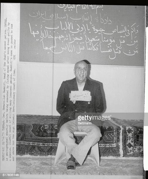 General Nematollah Nassiri head of the shah's secret police SAVAK is photographed 2/15 shortly before being executed by a firing squad after being...
