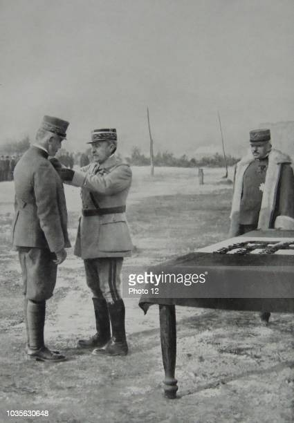 General Neville awards the Croix de guerre to the Duke of Aoste Prince Emanuele Filiberto of SavoyAoste 2nd Duke of Aoste was a member of the House...