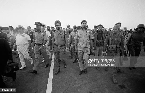 General Niazi's troops surrender of India's General Jagjit during the war for Bangladeshi independence