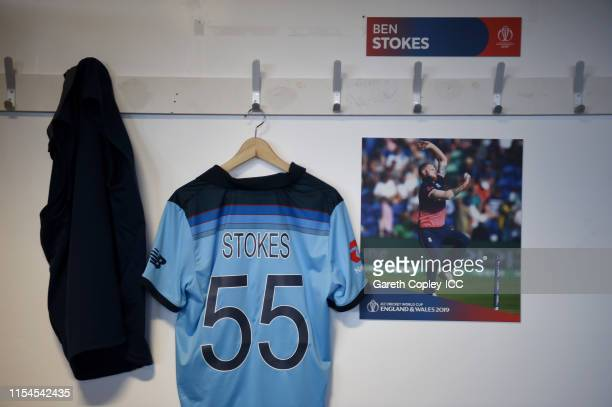 General of the England dressing rooms ahead of the Group Stage match of the ICC Cricket World Cup 2019 between England and Bangladesh at Cardiff...