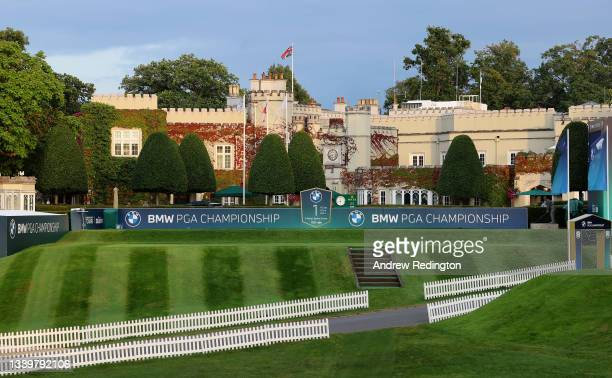 General of the first tee and clubhouse during Day Three of The BMW PGA Championship at Wentworth Golf Club on September 11, 2021 in Virginia Water,...