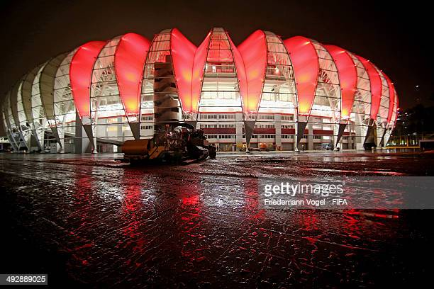 A general outside view of Estadio BeiraRio during the 2014 FIFA World Cup Host City Tour on May 21 2014 in Porto Alegre Brazil