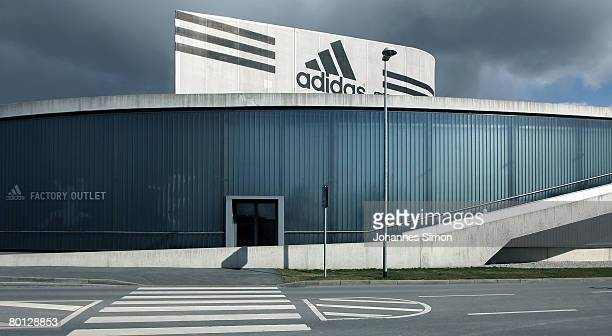 General outside view of the Adidas factory outlet store seen after the announcement of the results 2007 on March 5 2008 in Herzogenaurach Germany...