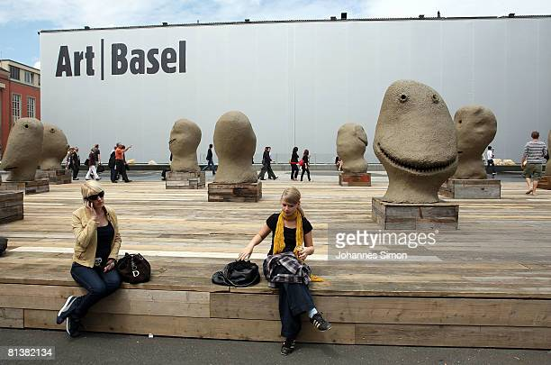 General outside view of the Basle fairground where the 39th edition of Art Basel takes place seen on June 3 2008 in Basle Switzerland The Art Basel...