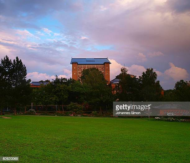 General outside view of the Bayreuth Festival opera house seen on September 1 2008 in Bayreuth Germany A board meeting of the RichardWagnerFoundation...