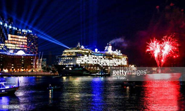General outside view of the cruise ship 'Mein Schiff 6' a day prior to its christening on May 31, 2017 in Hamburg, Germany.