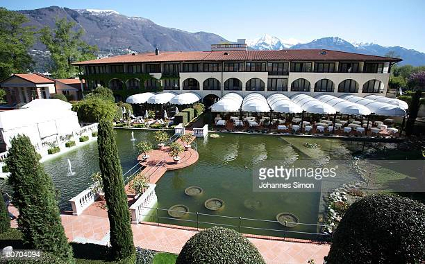 General outside view of the main building of Hotel Giardino seen from the garden on April 16 2008 in Ascona Switzerland The German soccer national...