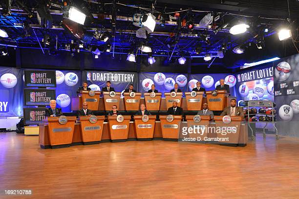 A general overall view during the 2013 NBA Draft Lottery on May 21 2013 at the ABC News' 'Good Morning America' Times Square Studio in New York City...