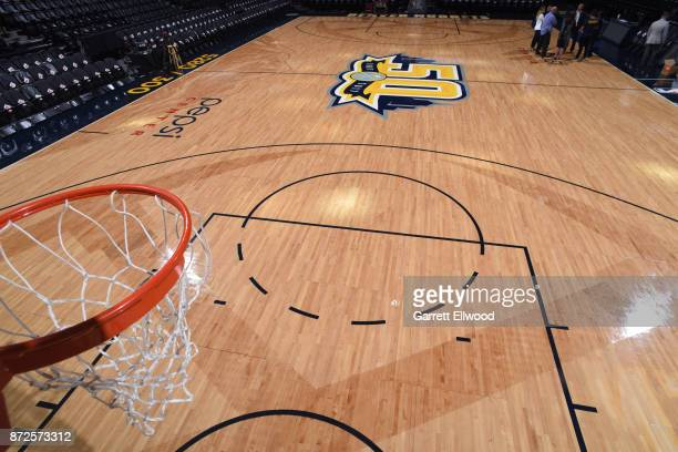 A general overall view of the court in the game of the Oklahoma City Thunder against the Denver Nuggets on November 9 2017 at the Pepsi Center in...