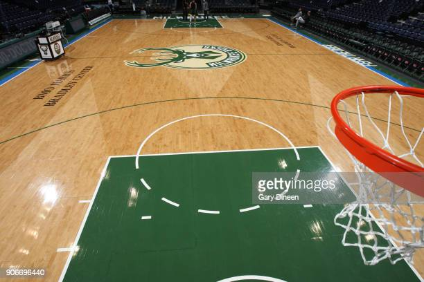 A general overall view of the court prior to the game of the Miami Heat against the Milwaukee Bucks on January 17 2018 at the BMO Harris Bradley...