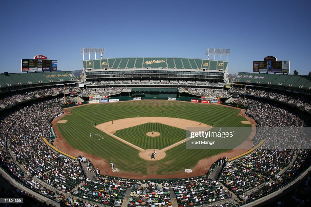 Baltimore orioles v oakland athletics photos and images getty images general overall view of the mcafee coliseum during the game between the oakland athletics and the voltagebd Image collections