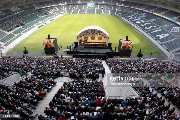 General overview during the Borussia M'Gladbach annual general meeting at Borussia Park Stadium on May 29, 2011 in Moenchengladbach, Germany.