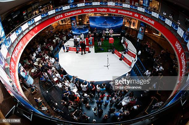 A general overview during the Champions League Trophy Tour by UniCredit at Baneasa Shopping Mall on September 18 2016 in Bucharest Romania