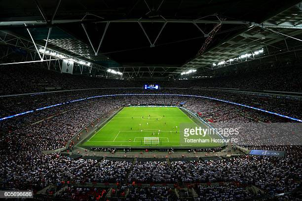A general overview of action inside Wembley during the UEFA Champions League match between Tottenham Hotspur FC and AS Monaco FC at Wembley Stadium...