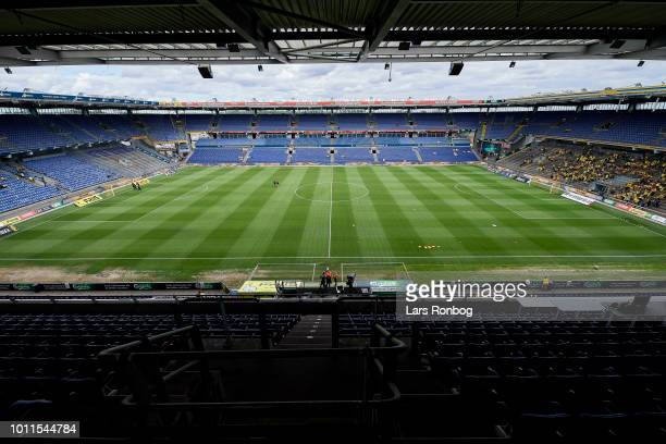 General overview of Brondby Stadium prior to the Danish Superliga match between Brondby IF and FC Nordsjalland at Brondby Stadion on August 5, 2018...