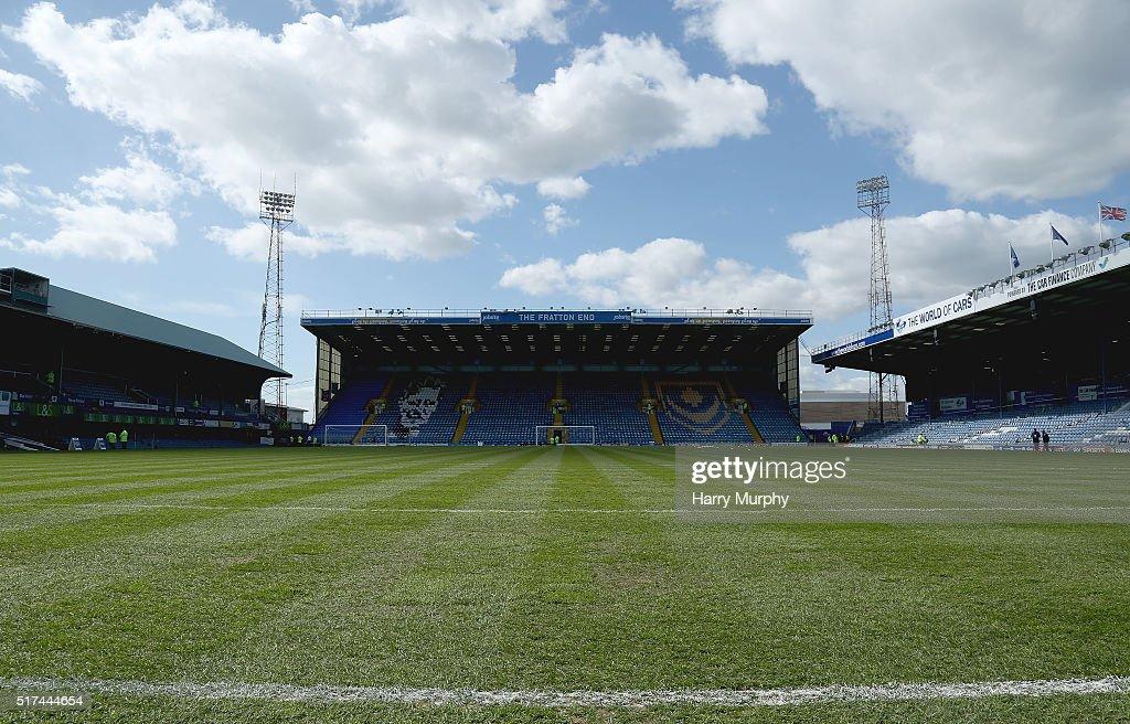 Portsmouth v Notts County - Sky Bet League Two : News Photo