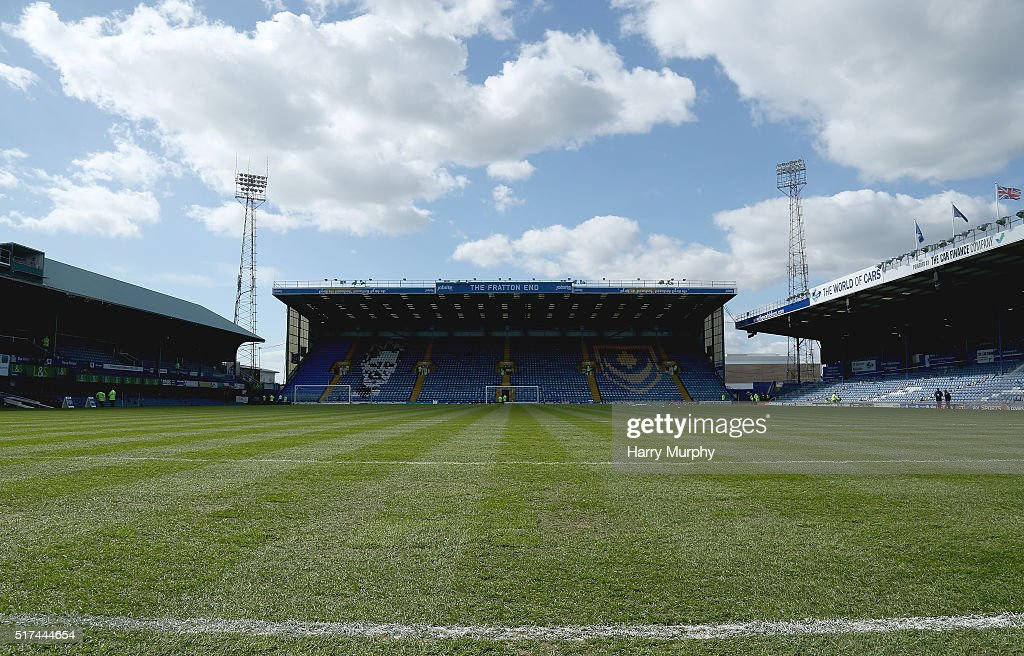 A general overview of Fratton Park prior to the Sky Bet League Two match between Portsmouth and Notts County at Fratton Park on March 25, 2016 in Portsmouth, England.