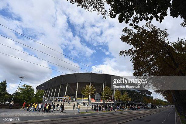 A general overview of Stadion Dresden prior the Third League match between SG Dynamo Dresden and VfR Aalen at Stadion Dresden on September 27 2015 in...