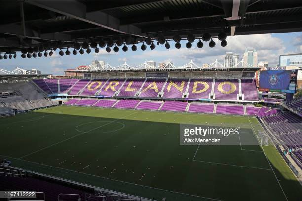 A general overview of the pitch prior to a NWSL soccer match between the Chicago Red Stars and the Orlando Pride at Orlando City Stadium on September...