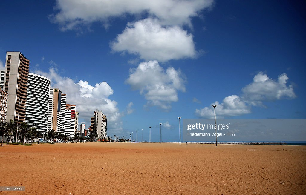 A general overview of the site for the FIFA Fan Fest during the 2014 FIFA World Cup Host City Tour on April 24, 2014 in Fortaleza, Brazil.