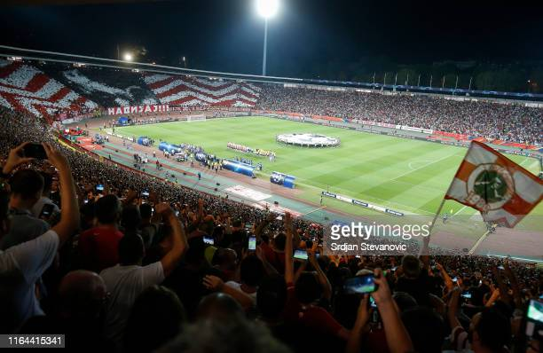 General overview of the stadium Rajko Mitic prior to the UEFA Champions League Play Off Second Leg match between Crvena Zvezda and Young Boys at...
