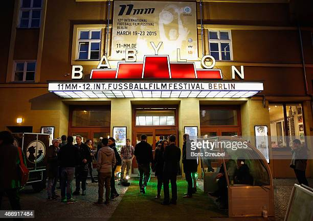 General overview prior to the German premiere of Messi - Der Film during the 11MM Film Festival Opening at cinema Babylon on March 19, 2015 in...