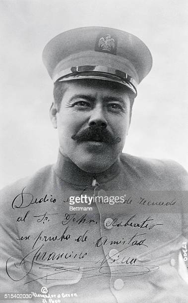 General Pancho Villa, autographed studio photograph presented to John W. Roberts, INS correspondent, by the rebel commander.