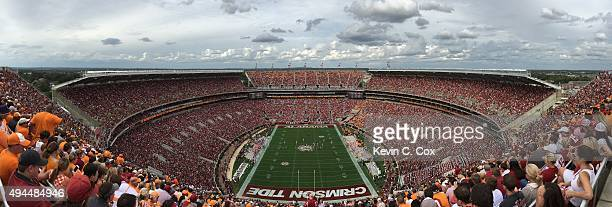 A general panoramic view of BryantDenny Stadium during the game between the Alabama Crimson Tide and the Tennessee Volunteers on October 24 2015 in...