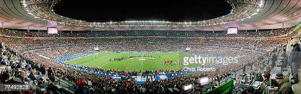 A general panoramic view of the trophy presentation to the winners South Africa after the 2007 Rugby World Cup Final between England and South Africa...
