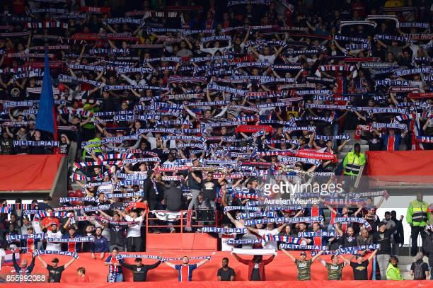 A general Paris SaintGermain fans during the Ligue 1 match between Paris Saint Germain and FC Girondins de Bordeaux at Parc des Princes on September...
