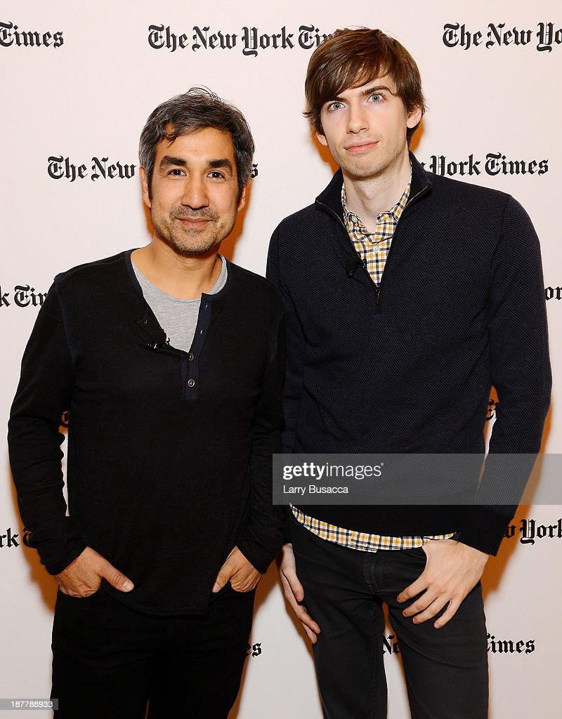 General Partner at Spark Capital Bijan Sabet (L) and Tumblr founder David Karp attend the New York Times 2013 DealBook Conference in New York at the New York Times Building on November 12, 2013 in New York City.