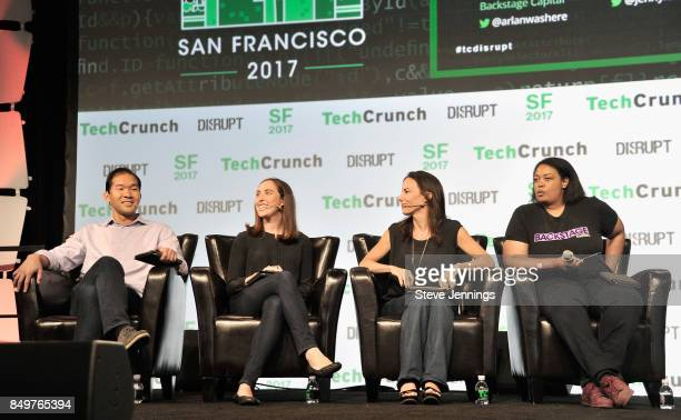 NEA General Partner Jon Sakoda Google Cloud Head of Startup Programs Sam O'Keefe Capital Partner Jenny Lefcourt and Backstage Capital Founder and...