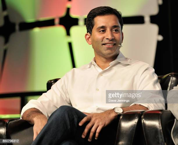 General Partner Krishna Yeshwant judges the Startup Battlefield Final Competition during TechCrunch Disrupt SF 2017 at Pier 48 on September 20 2017...