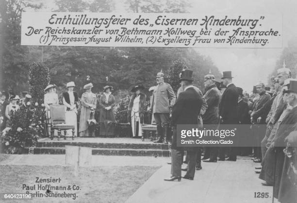 General Paul von Hindenburg and Prince August Wilhem of Prussia during World War I 1915 From the New York Public Library