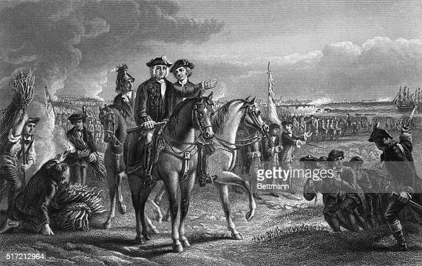 General Pepperell at the Siege of Louisburg Undated print