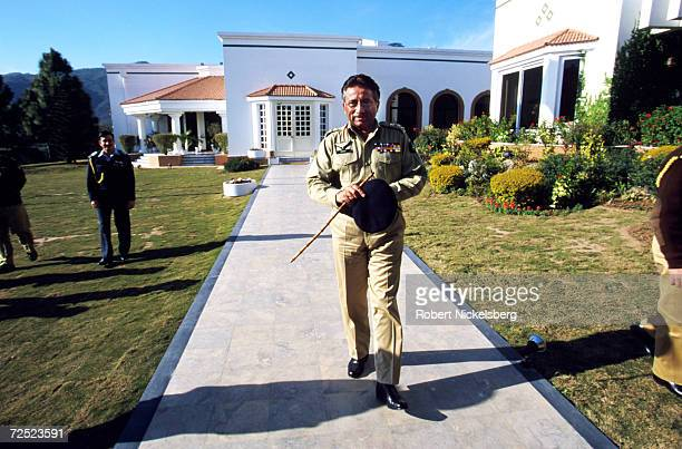 General Pervez Musharraf, the military leader and chief executive of Pakistan, visits the old Prime Minister's office in Islamabad, Pakistan February...