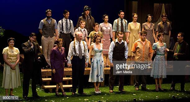 General photo of the repart during the Premiere of the Play ' Todos Eran Mis Hijos of Arthur Miller on November 11 2009 in Mexico City Mexico