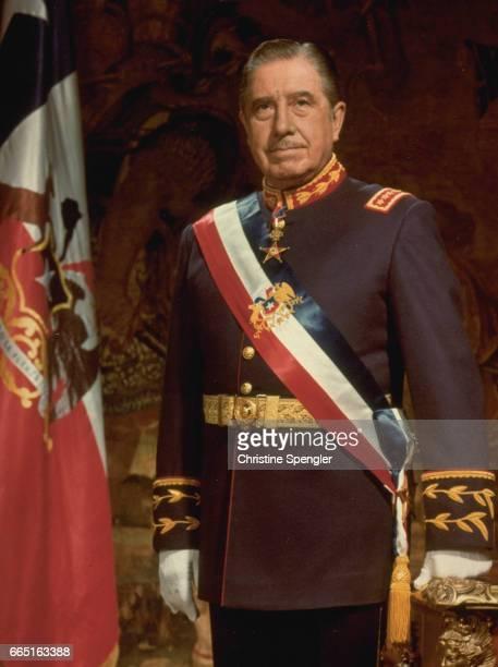 General Pinochet in ceremonial attire.