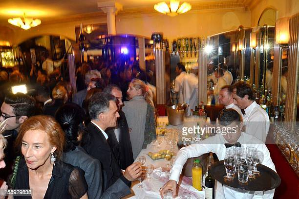 A general point of view of atmosphere during the the 'Prix De Flore 2012' Literary Award Ceremony Party at the Cafe de Flore on November 8 2012 in...