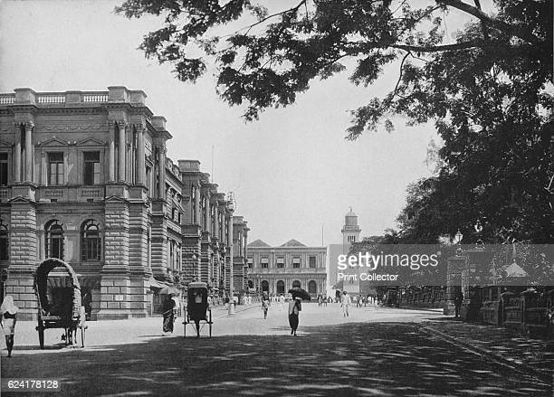 General Post Office with Entrance to Queen's House and Clock Tower in Distance' c1890 From The Hundred Best Views of Ceylon [Plâté Ltd Colombo Kandy...