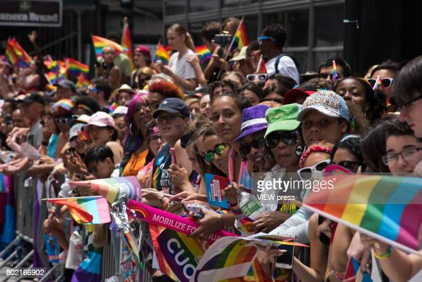 general public during the 2017 New York City Pride March on June 25 2017 in New York City n