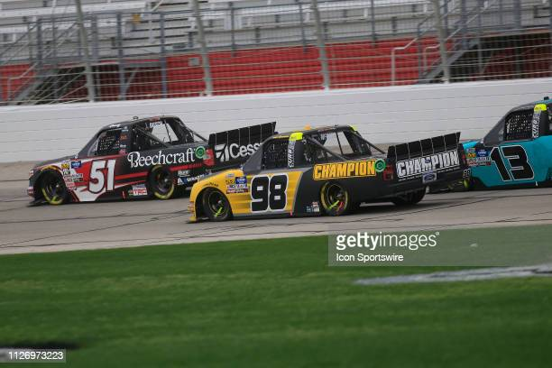 General race action during the 11th running of the Ultimate Tailgating 200 NASCAR Gander Outdoors Truck Series race on February 23 2019 at the...