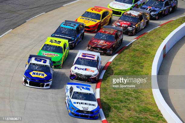 General race action during the 70th Annual running of the STP 500 Monster Energy NASCAR Cup Series race on March 24 2019 at Martinsville Speedway in...