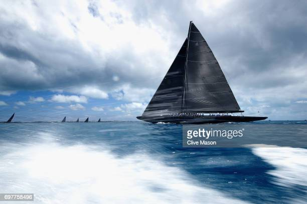 General race action during the America's Cup J Class Regatta day 2 on June 19 2017 in Hamilton Bermuda