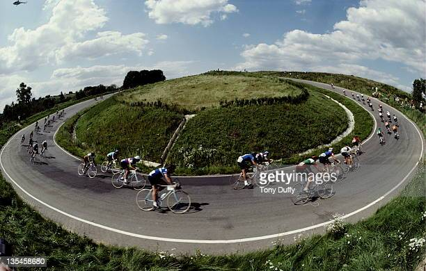 General race action from the Men's Individual Road Raceon 28th July 1980 during the XXII Olympic Summer Games at the Olympic Cycling Circuit...
