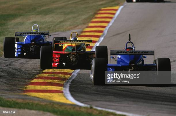 General racing action during the Barber Dodge Pro Series Round 9 of the Official Entry Level Professional Series of CART at the Road America Raceway...