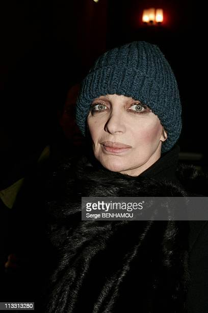 General Repeatition Of The Play 'Love Valour Compassion' At The Theater 'La Porte Saint Martin' On February 21St 2005 In Paris France Marie Laforet
